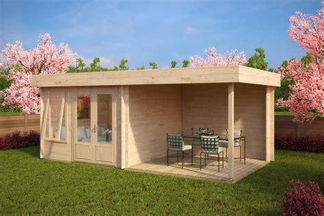 modern garden room with veranda lucas d 9m 178 44mm 6 x 3
