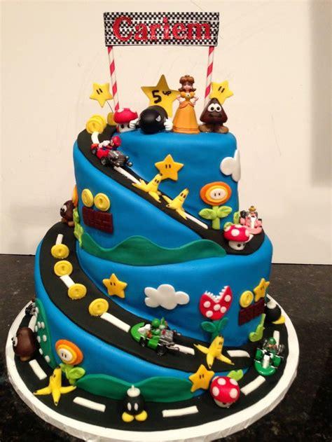 super mario brothers mario kart gluten  birthday cake sugarfairycelebrationscom cakes