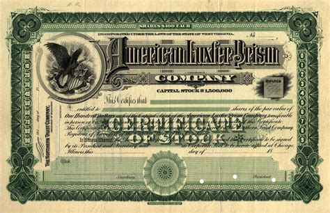 keith paper co stock certificate sample