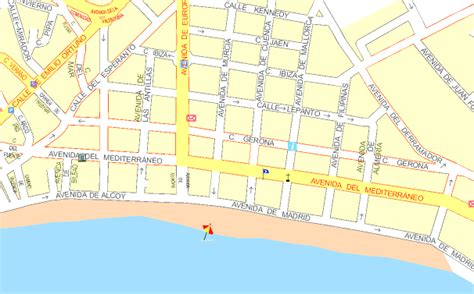 printable street map benidorm benidorm street map my blog