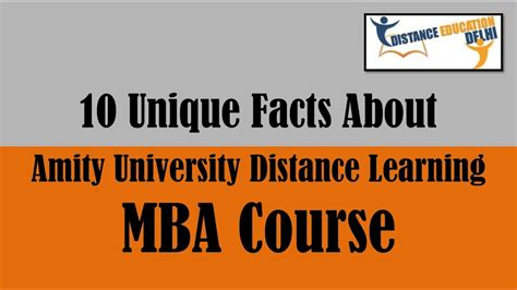Amity Distance Mba Kochi by 10 Unique Facts About Amity Distance Mba