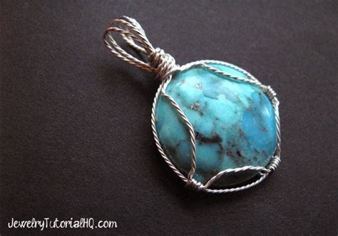 how to make cabochon jewelry wire wrapped cabochon setting tutorial