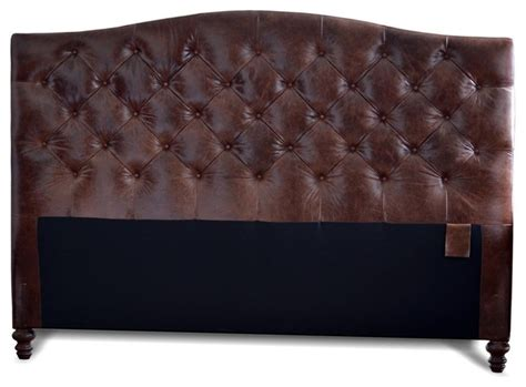 king size genuine leather tufted headboard