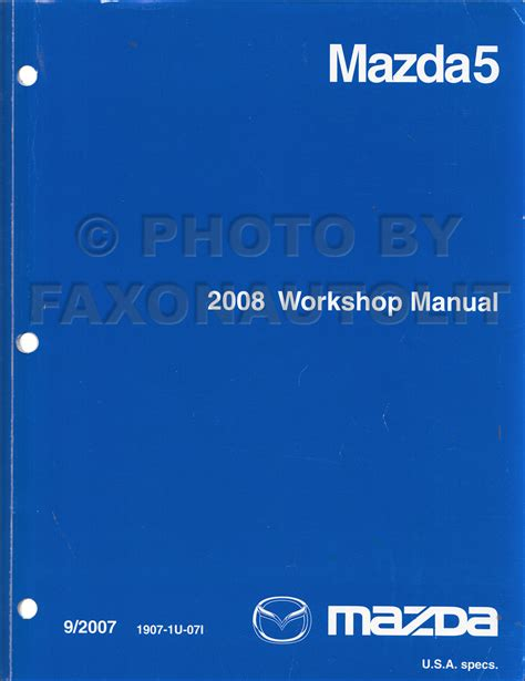 car repair manuals download 2008 mazda mazda5 head up display 2008 mazda 5 repair shop manual original