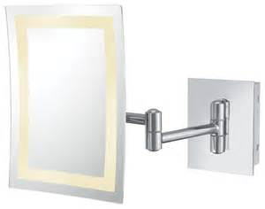single sided led rectangle wall mirror contemporary