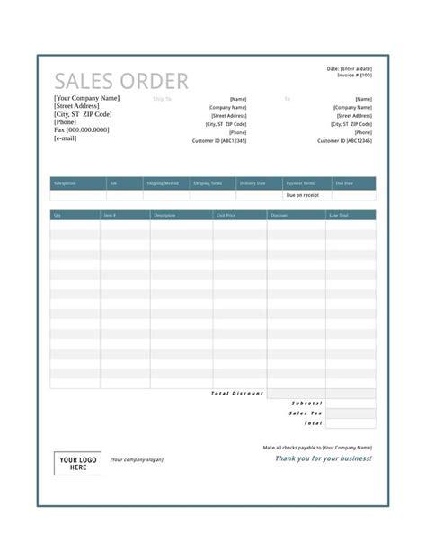 sales order template   create edit fill