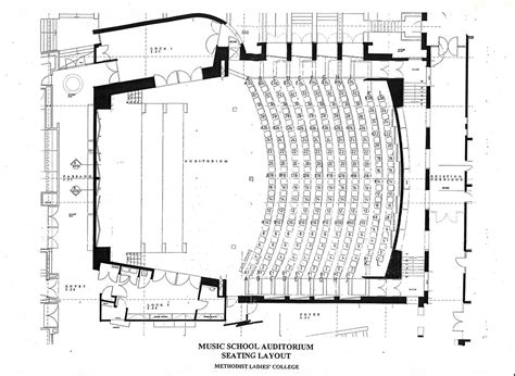university auditorium plan seating plans