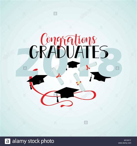 congratulations poster template college stock vector images alamy