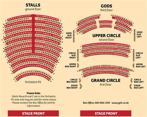 Belfast Opera House Seating Plan Box Office Information Grand Opera House