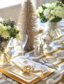 Silver Table Decorations by Table Ideas Decorating With Silver And Gold