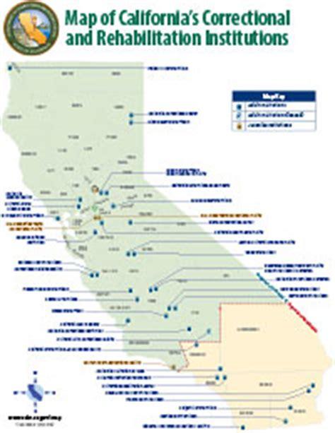 california jails map printable maps of california s correctional facilities
