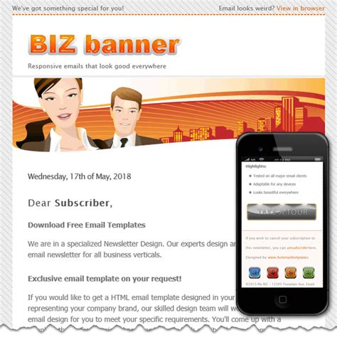 Email Banner Template free premium html email templates