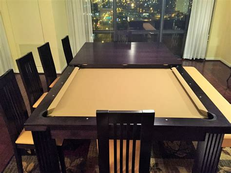 pool table dining table conversion dining table pool table conversion dining room ideas