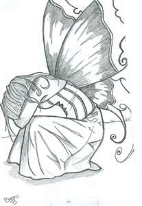 Pencil drawings of fairies 01