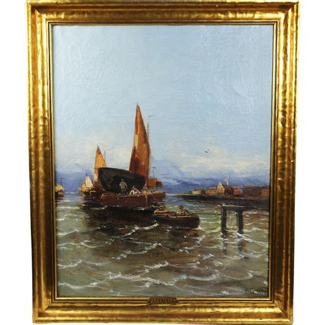 artist c antique o c painting by austrian artist fischhof georg as
