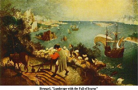 Landscape Of The Fall Of Icarus On Quot Landscape With The Fall Of Icarus Quot