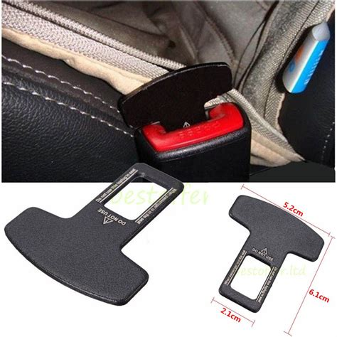 replace seat belt buckle universal carbon fiber car seat belt buckle alarm stopper