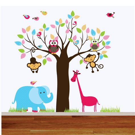 playroom wall stickers wall decals jungle nursery playroom wall decal by wallartdesign