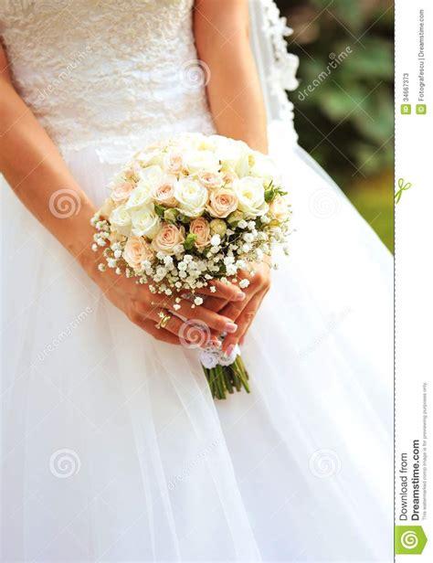 Wedding Holding by Holding Wedding Flowers Stock Photos Image 34667373