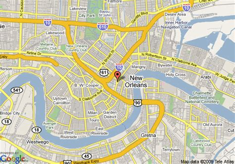 map of new orleans downtown hotels map of inn new orleans downtown new orleans