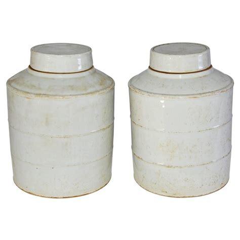 white ginger jar l pair of white vintage chinese ginger jars for sale at 1stdibs
