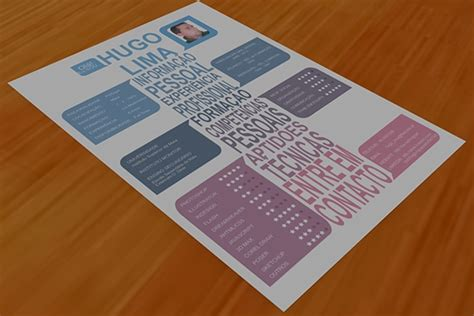 personal and original cv made in corel draw on behance