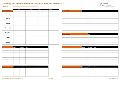 workout plan template plan template for pole aerial arts