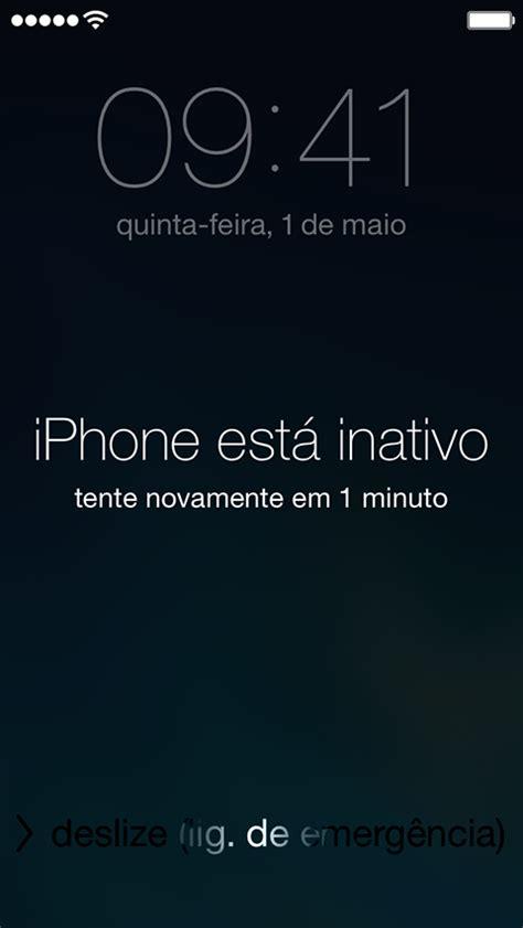 o iphone esta inativo tamos fufu iphone bloqueado o que fazer
