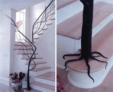 tree branch banister handrails old school recycled and super mod on pinterest wood creations railings