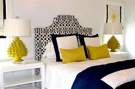 black and white bedrooms with color accents stylish bedroom design ideas with yellow colors and