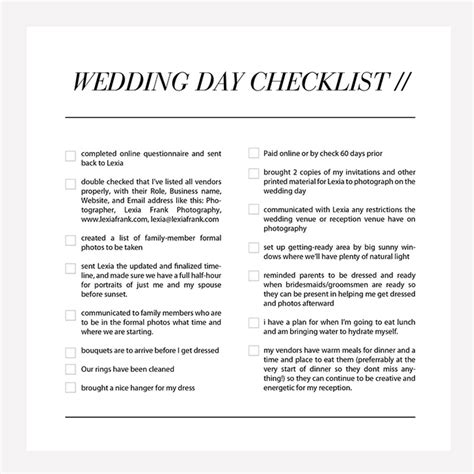 Wedding Checklist Weddingku by Wedding Structurewedding Photography Checklist Taking