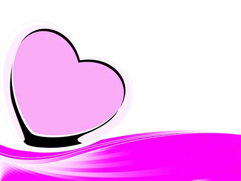 microsoft powerpoint themes black and pink pink heart backgrounds love pink ppt backgrounds hq free