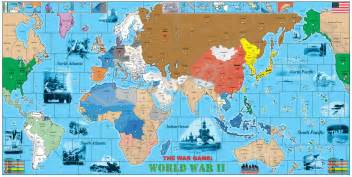 2 World War Map by World War 2 Map Of The World