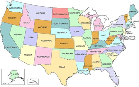 map usa showiwng states free printable road map