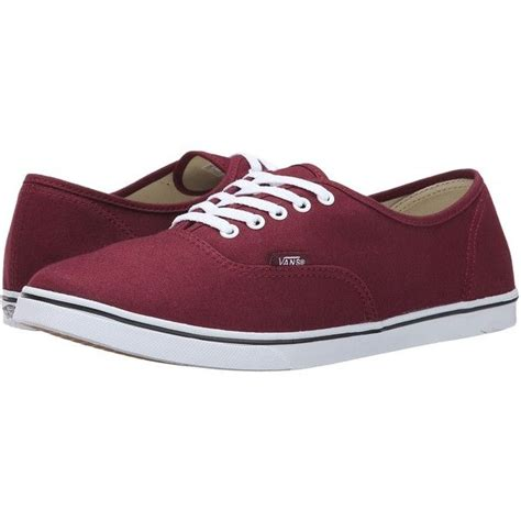 Vans Authentic Classic Maroon burgundy lo pro vans