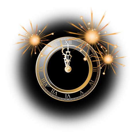 new year free png clipart new year clock