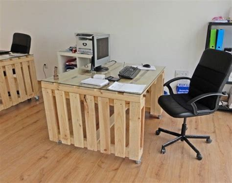 desk made from pallets desk made out of pallets pallets just pallets pinterest