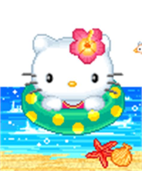 mengecilkan format gif kumpulan gambar hello kitty berenang animasi bergerak