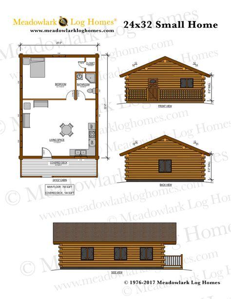 Small House Plans 24 X 32 24x32 Log Home Meadowlark Log Homes