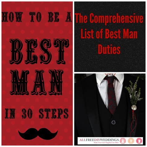 Best Man Duties   AllFreeDIYWeddings.com