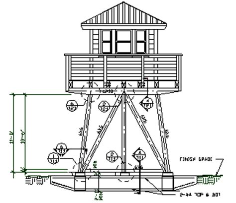 observation tower plans lookout towers engineered plans for 1 story lookout