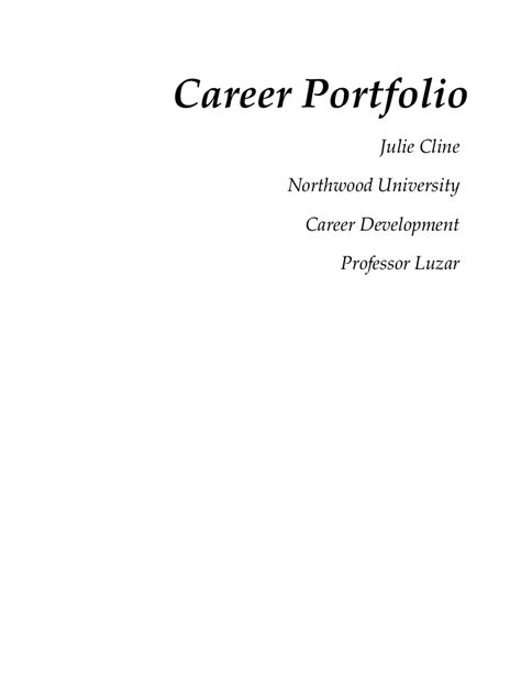 Cover Page Career Page Template