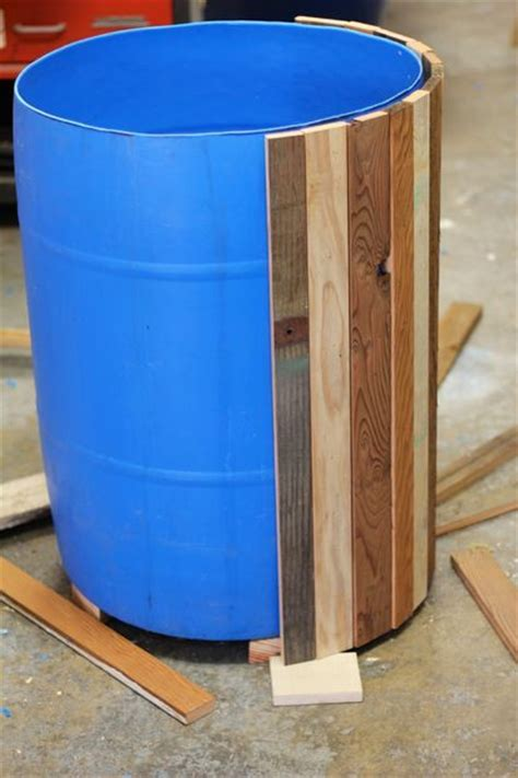 Wooden Barrel Planters At Lowes by This Barrel Planter Flipped As An Outdoor