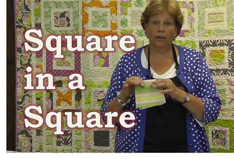 quilt pattern square in a square make the square in a square quilt tutorial youtube