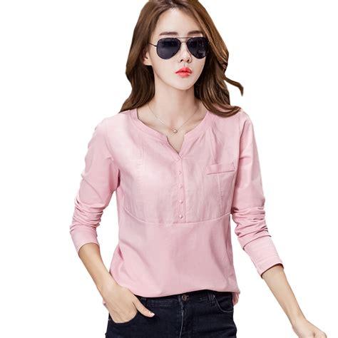 poleras de mujer linen cotton korean tshirt  shirt women