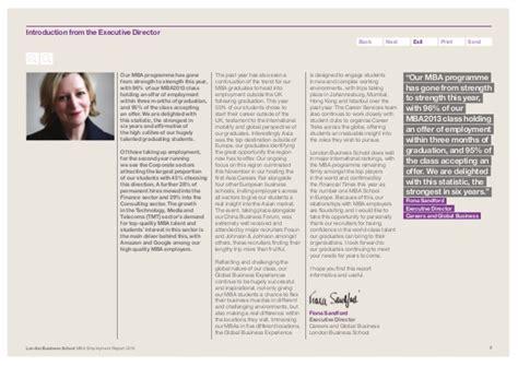 Mba Employment Report by Mba Employment Report 2013 Business School