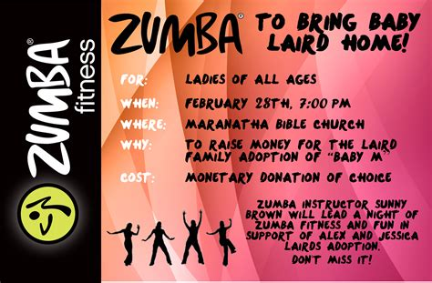 zumba fundraiser flyer template www imgkid com the