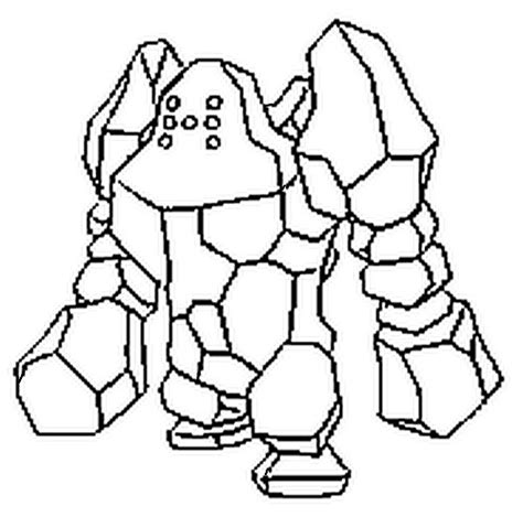 pokemon regirock coloring pages free coloring pages of pokemon regirock