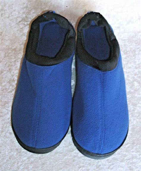 unisex slippers blue unisex memory foam slipper indoor outdoor avon