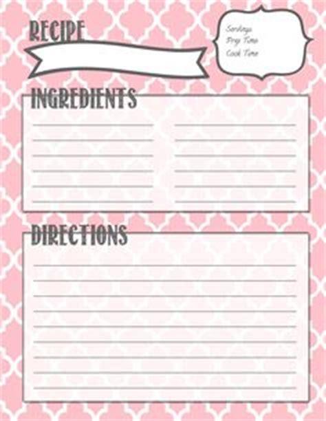 monogram recipe card template monogram recipe sheet editable recipe card preppy template